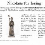 Bronzeskulptur vom Heiligen Nikolaus